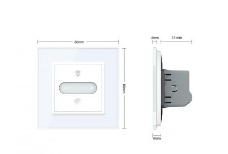 Intrerupator tactil Livolo WiFi, Zigbee, cap scara / cruce, dimabil, intensitate lumina ajustabila9