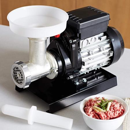 Mașină de tocat carne Reber 9502 N n.5, Putere 400W, Producție 30~50kg/h, Corp din fontă tratată, Găuri sită 6mm [1]