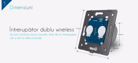 Modul intrerupator dublu, wireless VL-C702R [3]