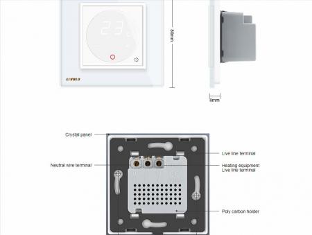 Modul termostat Livolo pentru incalzire electrica si in pardoseala [2]