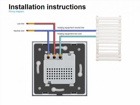 Modul termostat Livolo pentru incalzire electrica si in pardoseala [1]