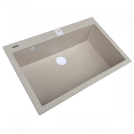 Set chiuveta bucatarie granit Cube ON7610 Bej Pigmentat / Avena + Baterie CookingAid Indiana + gratar protectie fund chiuveta + accesorii montaj4