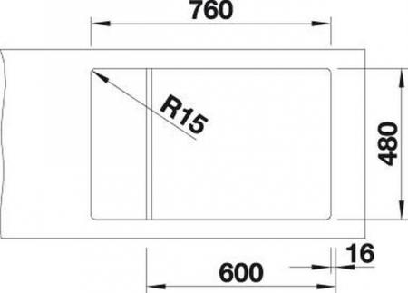 Set chiuveta bucatarie granit ELON XL 6S si baterie granit MILI-Blanco Germany [5]