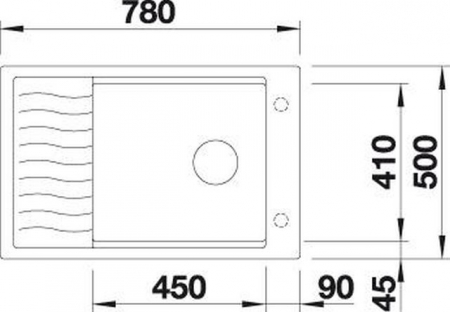 Set chiuveta bucatarie granit ELON XL 6S si baterie granit MILI-Blanco Germany [4]