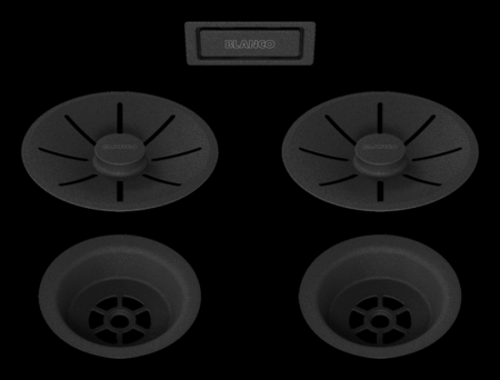 Set elemente de scurgere pentru chiuvete duble seria Black Edition [2]