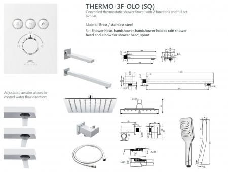 Sistem de dus incastrat Rubineta Thermo 3F OLO cu baterie termostatica [13]