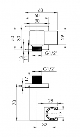 Sistem de dus incastrat Rubineta Thermo 2F OLO cu 2 functii baterie termostatica [10]