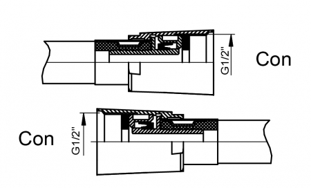 Sistem de dus incastrat Rubineta Thermo 2F OLO cu 2 functii baterie termostatica [9]