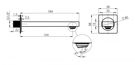 Sistem de dus incastrat Rubineta Thermo 3F OLO cu baterie termostatica [12]