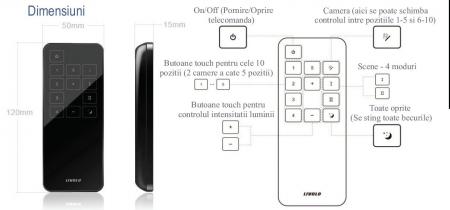 Telecomanda Touch Livolo - 10 circuite2