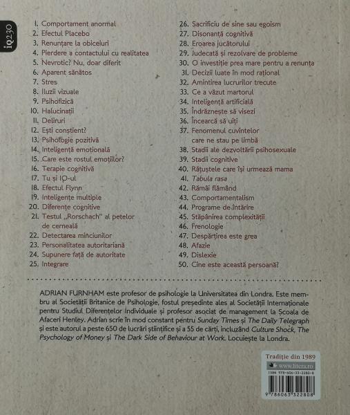 50 de idei pe care trebuie sa le cunosti. Psihologie - Adrian Furnham [1]