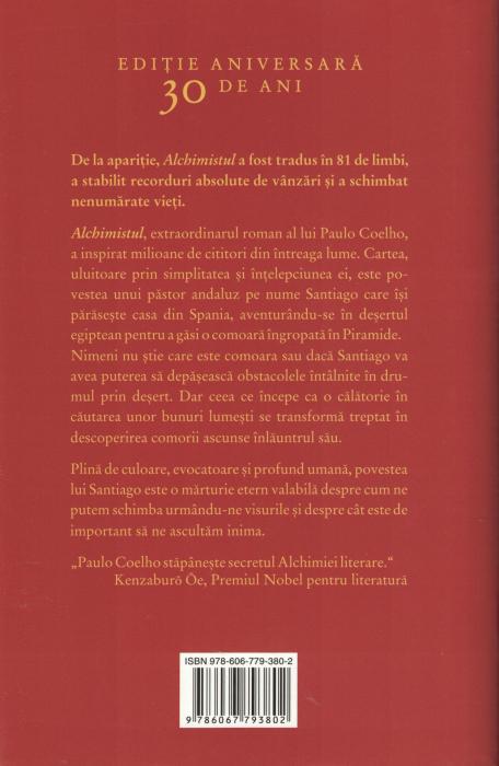 Alchimistul. Editie aniversara, 30 de ani - Paulo Coelho [1]