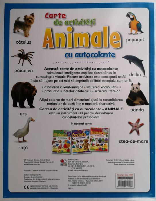 Animale cu autocolante. Carte de activitati [1]