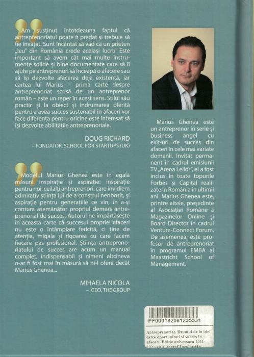 Carte cu AUTOGRAF.  Antreprenoriat. Drumul de la idei catre oportunitati si succes in afaceri - Marius Ghenea [1]