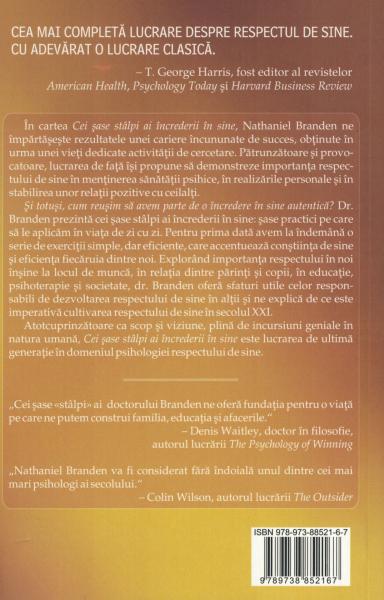 Cei sase stalpi ai increderei de sine - Nathaniel Branden [1]