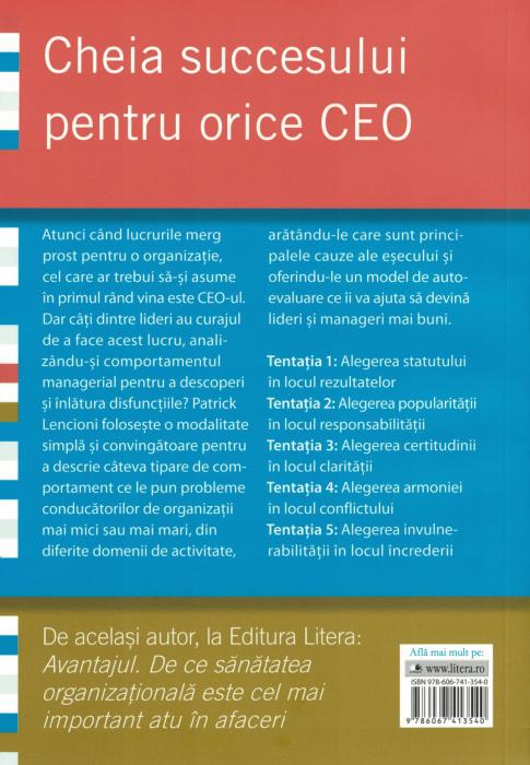 Cinci tentatii ale unui CEO - Patrick Lencioni [1]
