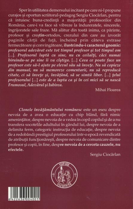 Clonele invatamantului romanesc - Sergiu Ciocarlan [1]