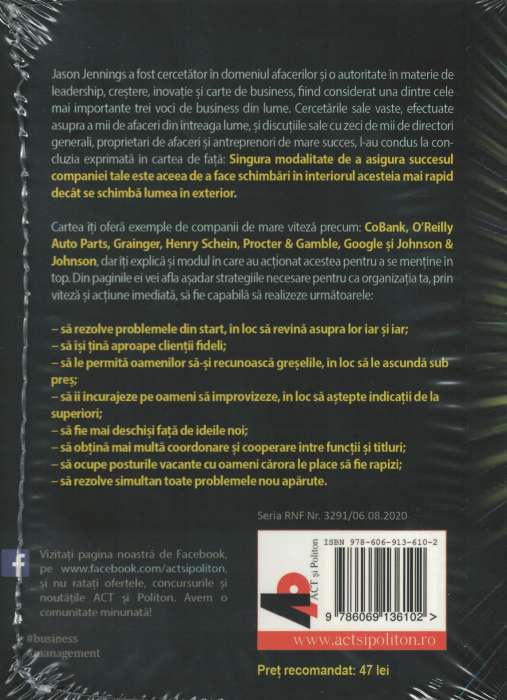 Companie de mare viteza. AUDIOBOOK CD MP3 - Jason Jennings, Laurence Haughton [1]