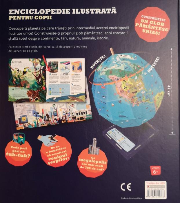 Construieste globul pamantesc. Enciclopedie ilustrata si glob pentru copii, Leon Gray, [1]