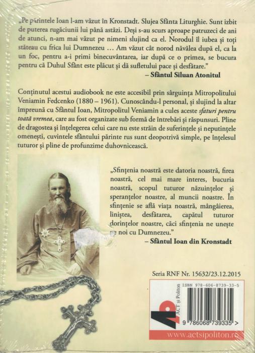 Cum ne mantuieste Dumnezeu. AUDIOBOOK  CD  MP3 - Sfantul Ioan din Kronstadt [1]