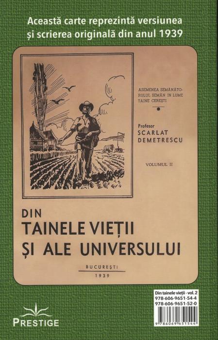 Din tainele vietii si ale universului, Set  3 vol. Versiune originala din 1939 - Scarlat Demetrescu [6]