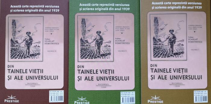 Din tainele vietii si ale universului, Set  3 vol. Versiune originala din 1939 - Scarlat Demetrescu [1]