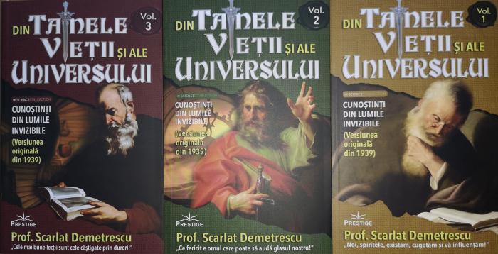 Din tainele vietii si ale universului, Set  3 vol. Versiune originala din 1939 - Scarlat Demetrescu [0]