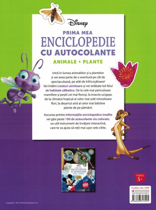 Prima mea enciclopedie cu autocolante. Animale, plante - Disney [1]