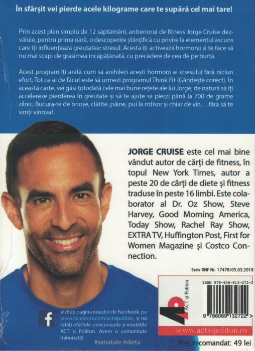 Gata cu grasimea incapatanata! AUDIOBOOK  CD  MP3 - Jorge Cruise [1]