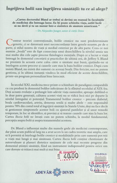 Iluzia bolii - Dr. Jeffrey S. Bland [1]