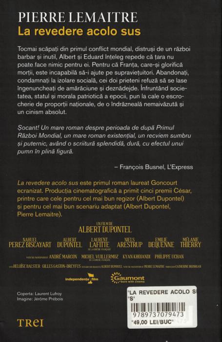 La Revedere Acolo Sus - Pierre Lemaitre [1]