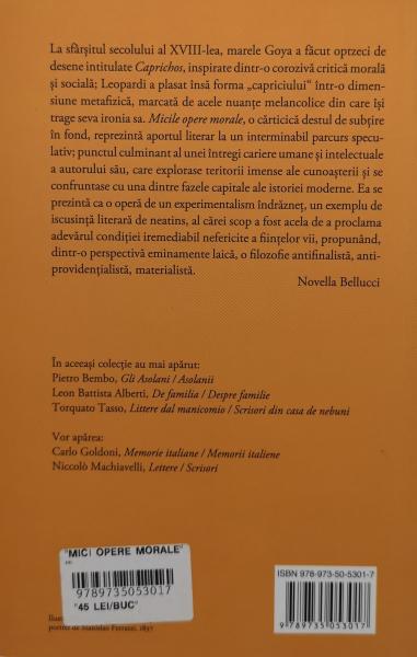 Mici opere morale - Giacomo Leopardi [1]