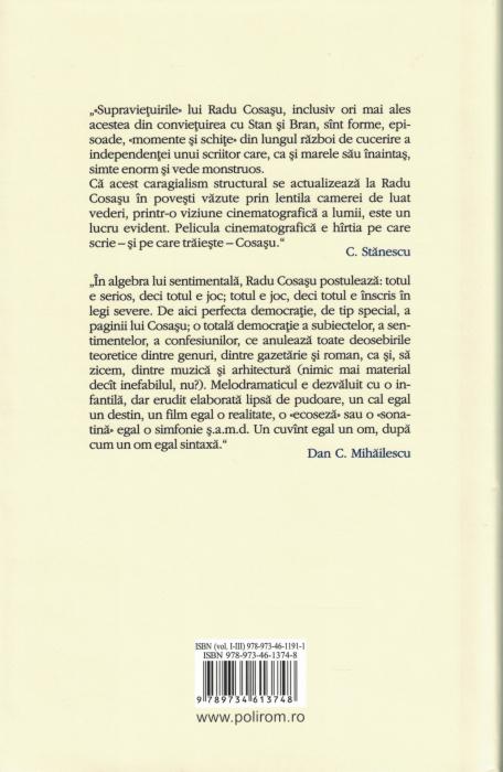 Opere II. O vietuire cu Stan si Bran. Sonatine - Radu Cosasu [1]