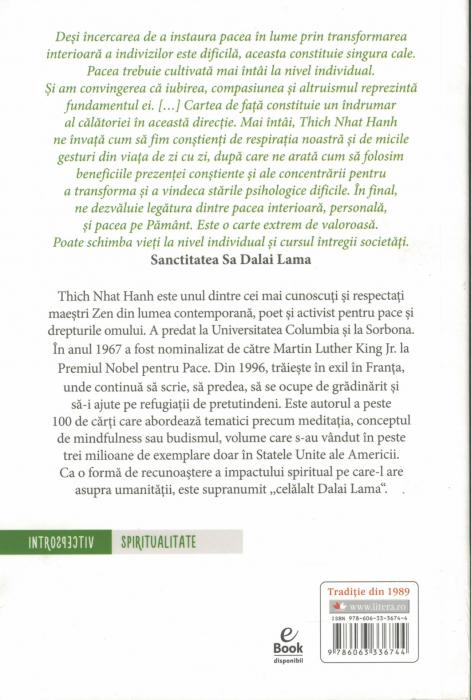 Pacea incepe in noi. Mindfulness in viata de zi cu zi - Thich Nhat Hanh [1]