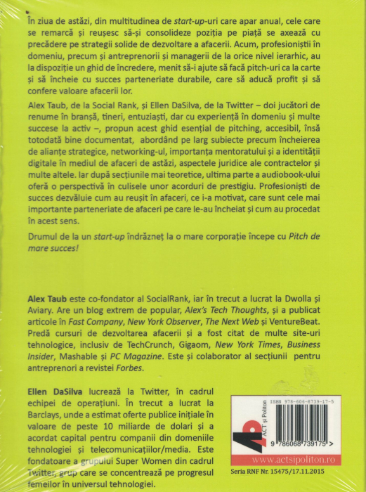 Pitch de mare succes. AUDIOBOOK CD MP3 - Alexander Taub, Ellen Dasilva [1]