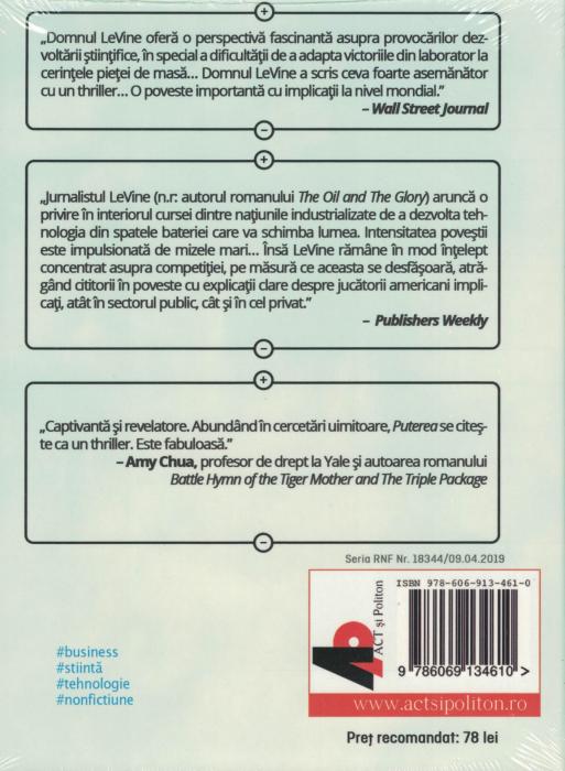 Puterea. Despre inventia bateriei care va salva lumea. AUDIOBOOK CD MP3 - Steve Levine [1]