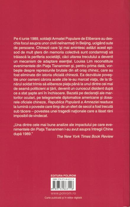 Republica Populara a Amneziei. Tiananmen, 1989 - Louisa Lim [1]