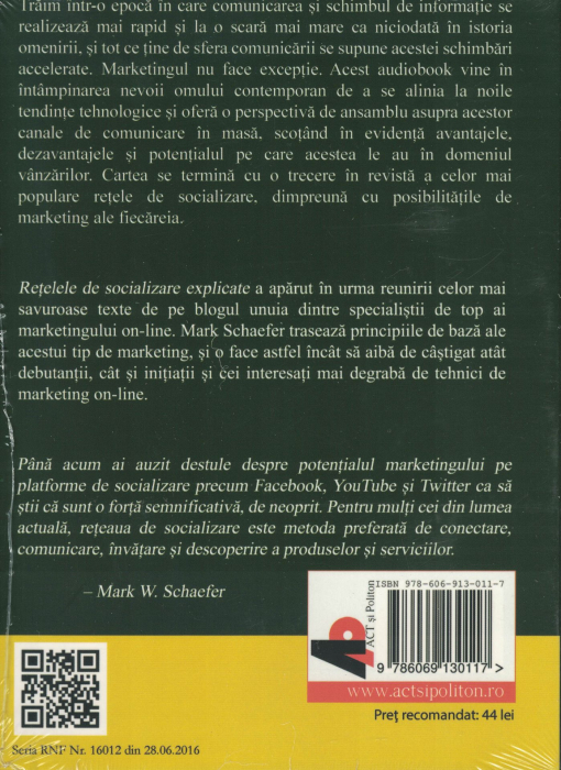 Retelele de socializare explicate. AUDIOBOOK  CD  MP3 - Mark W. Schaefer [1]