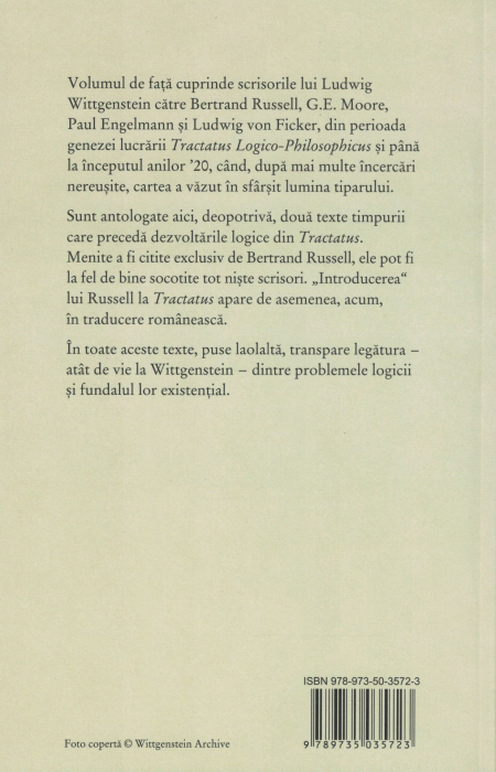 Scrisori despre Tractatus - Ludwig Wittgenstein [1]