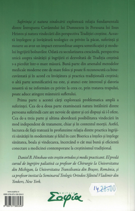 Suferinta si natura vindecarii - Daniel B. Hinshaw [1]