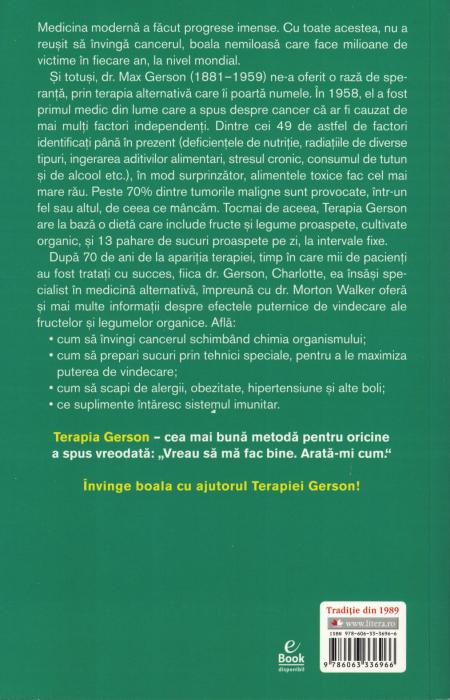 Terapia Gerson - Charlotte Gerson, Dr. Morton Walker [1]
