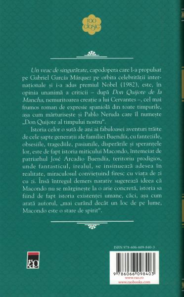 Un veac de singuratate - Gabriel Garcia Marquez [1]