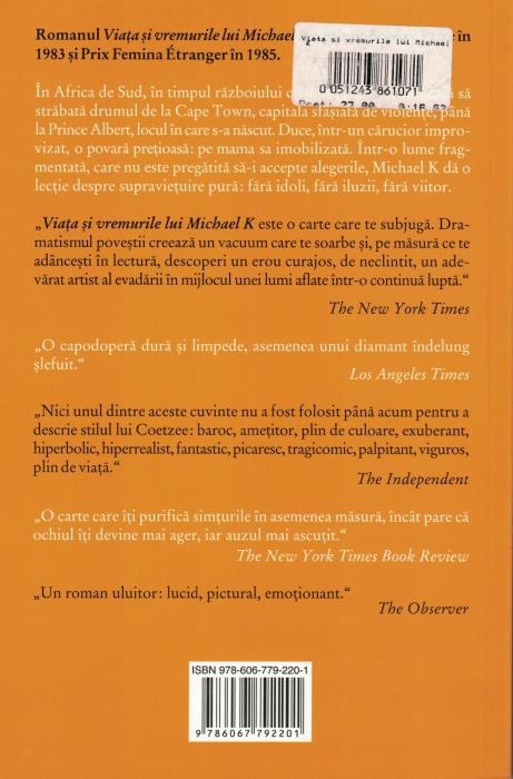 Viata si vremurile lui Michael K  - J.M. Coetzee [1]