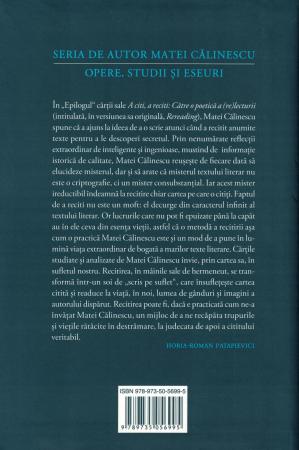 A citi, a reciti. Catre o poetica a (re) lecturii - Matei Calinescu [1]