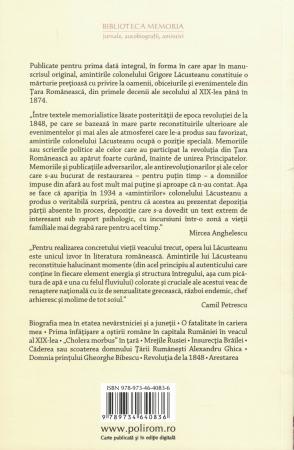 Amintirile colonelului Lacusteanu - Grigore Lacusteanu [1]