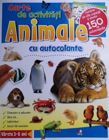 Animale cu autocolante. Carte de activitati [0]