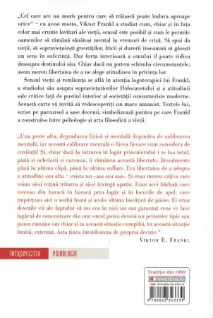 Cel care are un motiv pentru care sa traiasca - Viktor E. Frankl [1]