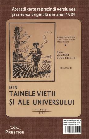 Din tainele vietii si ale universului, Set  3 vol. Versiune originala din 1939 - Scarlat Demetrescu [8]