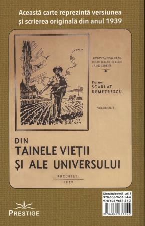 Din tainele vietii si ale universului, Set  3 vol. Versiune originala din 1939 - Scarlat Demetrescu [4]