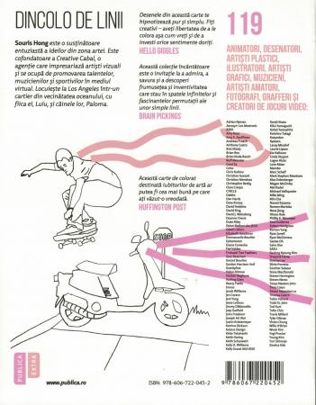 Dincolo de linii. Coloreaza 119 lucrari de arta contemporana - Souris Hong [1]
